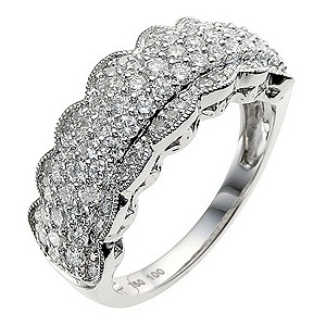 Sattva 18ct White Gold 1Carat Diamond Ring