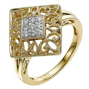 Sattva 18ct Yellow Gold Diamond Ring