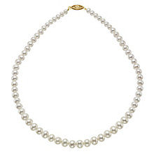 9ct Yellow Gold Certified Cultured Freshwater Pearl Necklace - Product number 8953104