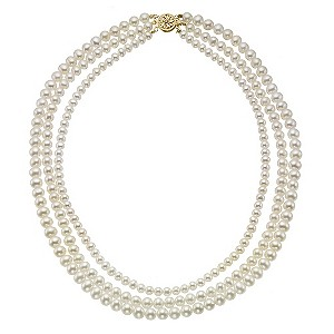 9ct Yellow Gold Certified Cultured Freshwater Pearl Necklace - Product number 8953120