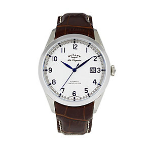Rotary men's brown strap watch - Product number 8955425