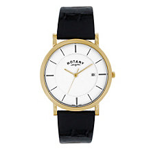 Rotary men's black strap watch - Product number 8955492