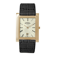 Rotary men's gold-plated grey strap watch - Product number 8955514