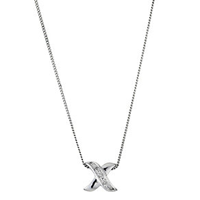 Silver & Diamond Pendant Necklace - Product number 8956170