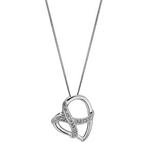 Silver & Diamond Pendant Necklace - Product number 8956243