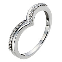 9ct White Gold Wishbone Diamond Ring - Product number 8959056