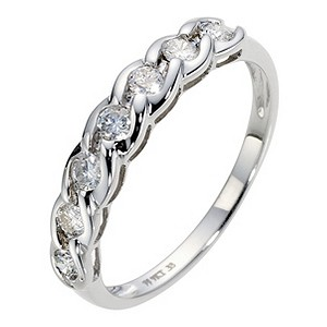 9ct White Gold 1/3 Carat Diamond Eternity Ring - Product number 8959439