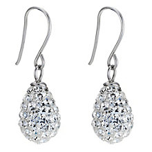 9ct White Gold Egg Drop Earrings - Product number 8959919