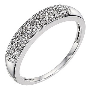 Silver & Diamond Eternity Ring - Product number 8959951
