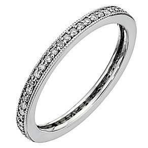 9ct White Gold Quarter Carat Diamond Eternity Ring - Product number 8960607
