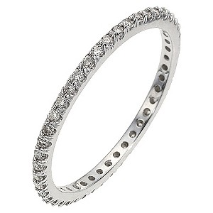9ct White Gold Third Carat Diamond Eternity Ring