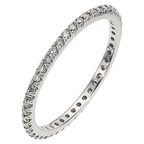 9ct White Gold Third  Carat Diamond Eternity Ring - Product number 8961042