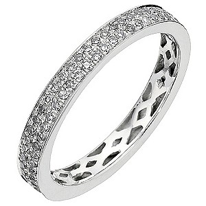 9ct White Gold Half Carat Diamond Eternity Ring - Product number 8961174