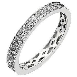 9ct White Gold Half Carat Diamond Eternity Ring