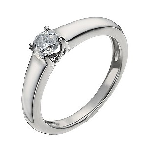 Palladium Half Carat Diamond Solitaire Ring