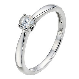 18ct White Gold 1/4 Carat Diamond Solitaire Ring