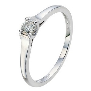 Platinum Diamond Solitaire Ring - Product number 8964467