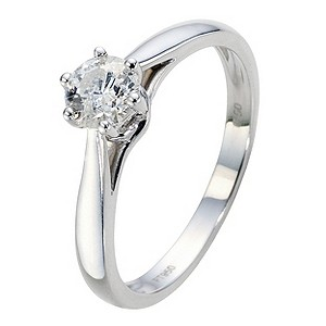 Platinum 1/2 Carat Diamond Solitaire Ring - Product number 8964599