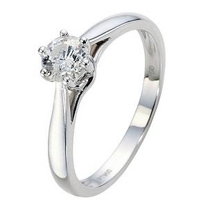 Platinum 1/2 Carat Diamond Solitaire Ring