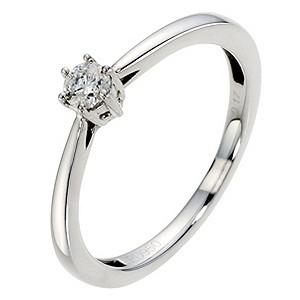 Palladium Diamond Solitaire Ring