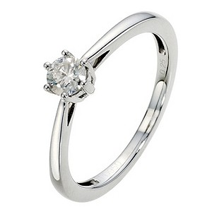 Palladium 1/4 Carat Diamond Solitaire Ring