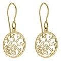 9ct Yellow Gold Floral Cut Out Earrings - Product number 8965609