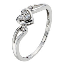 Cherished Argentium Silver & Diamond Heart Ring - Product number 8966567