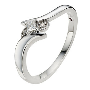 Silver & Diamond Ring - Product number 8969493