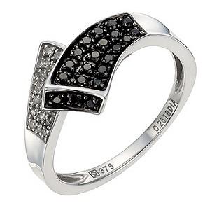 Silver 1/4 Carat Black