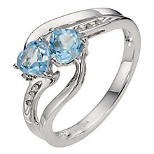 Silver & Blue Topaz Ring - Product number 8971617