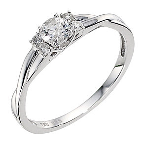 18ct White Gold 1/3 Carat Diamond Solitaire Ring - Product number 8971889