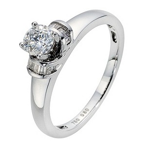 18ct White Gold 1/2 Carat Diamond Solitaire Ring