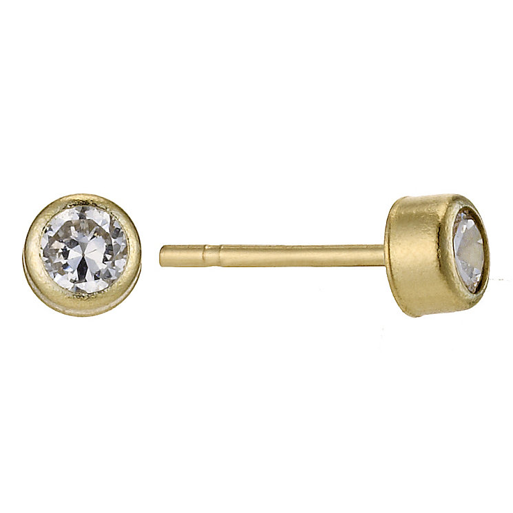 9ct Yellow Gold Cubic Zirconia 3mm Stud Earrings - Product number 8972583