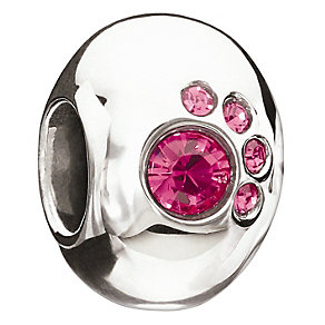 Chamilia Sterling Silver Crystal Fuchsia Paw Bead - Product number 8972958