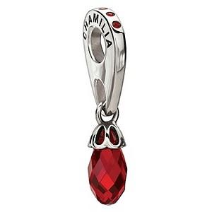 Chamilia sterling silver Briolette Chianti Swarovski bead - Product number 8973059