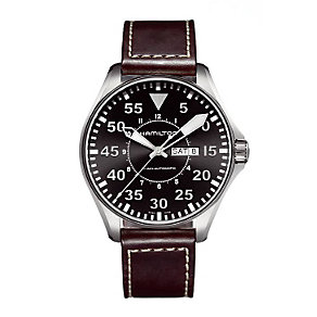 Hamilton men's brown strap watch - Product number 8973369