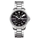 Hamilton men's stainless steel black dial watch - Product number 8973377