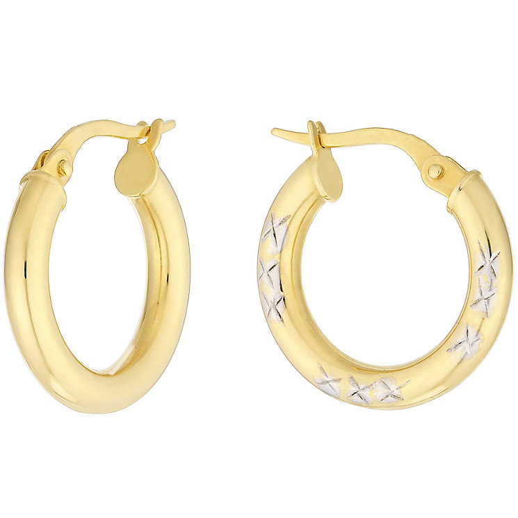 9ct Yellow Gold Creole Earrings - Product number 8973865