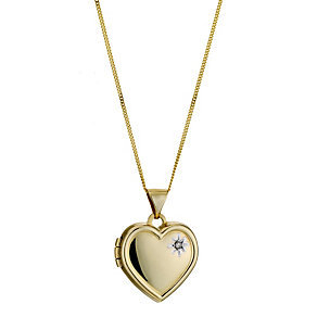 9ct Yellow Gold Heart Locket - Product number 8974942