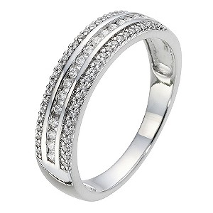 9ct White Gold 1/4 Carat Diamond Eternity Ring