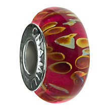 Chamilia - sterling silver Pink Lemonade Murano bead - Product number 8979278