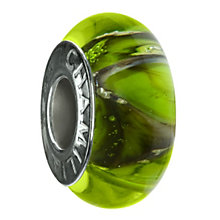Chamilia - sterling silver Green Silver Peaks Murano bead - Product number 8979308