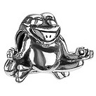 Chamilia - sterling silver Yoga Frog bead - Product number 8981124