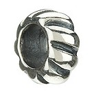 Chamilia - sterling silver Diagonal Lined Spacer bead - Product number 8982821