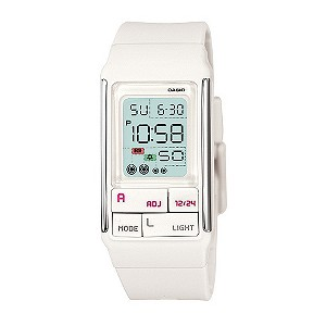 Casio White Digital Watch