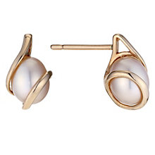 9ct rose gold & pearl wrap earrings - Product number 8983534