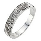 9ct white gold third carat diamond pave set eternity ring - Product number 8986789