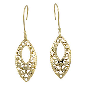9ct yellow gold drop earrings - Product number 8986959