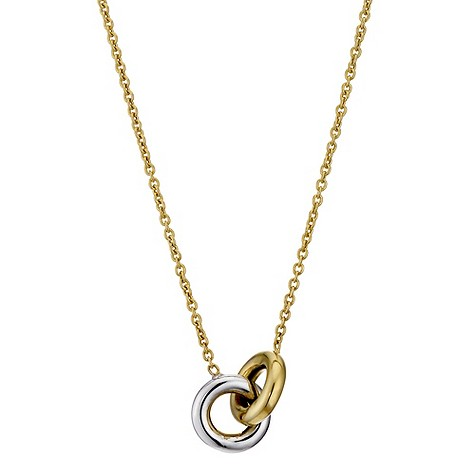 9ct yellow gold ring link necklace
