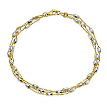 9ct yellow/white gold station bracelet - Product number 8987912